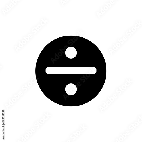 Photo  division symbol in a circle icon