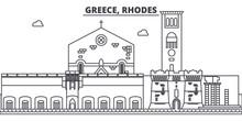 Greece, Rhodes Line Skyline Ve...