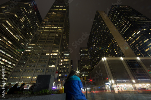 Papiers peints New York City New York grattacieli vista dal basso