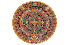 Colorful Aztec Solar Calendar