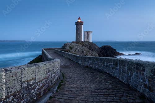 Foto op Canvas Vuurtoren Le Petit Minou lighthouse near Brest city, Bretagne, France