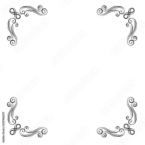 Vintage Decorative Corners Collection Calligraphic Ornamental