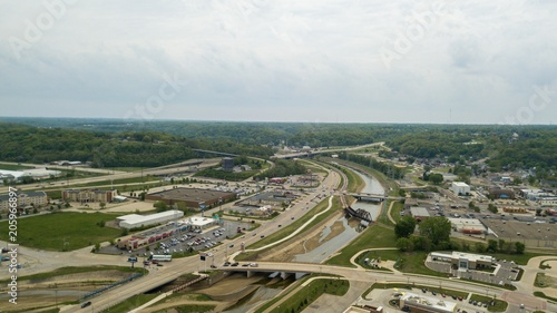 Poster Cracovie Beautiful aerial view of the Peoria City