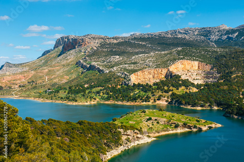 Photo Beautiful mountain landscape near El Chorro Gorge, Andalusia, Spain