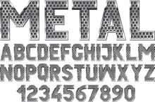 Metallic Font With Grate Textu...