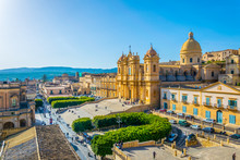 Aerial View Of Noto Including ...