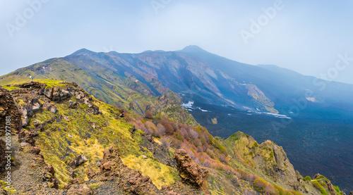 Foto auf Gartenposter Hugel Valle del bove of mount etna in Sicily, Italy