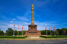 Siegessaule Column In Berlin G...