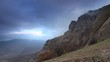 Movement of the clouds on the mountain Demerdji. Alushta, Crimea, Ukraine (TimeL