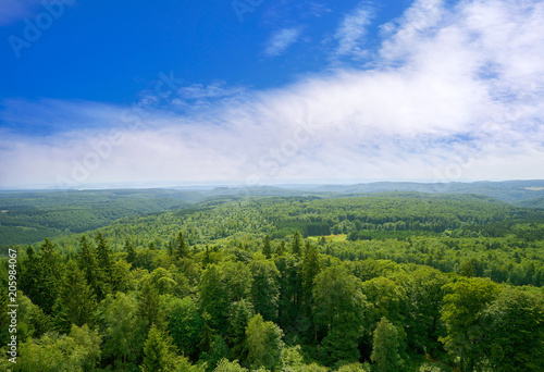 Fototapeten Wald Harz mountains aerial view Germany