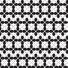 Black White Flower With Line Pattern Background