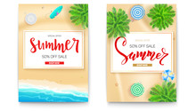 Set Of Summer Sale Posters For...