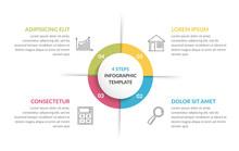 Circle Infographics - Four Ele...