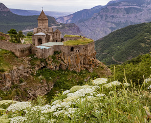 Fototapeta na wymiar Looking down at Khor Virap monastery