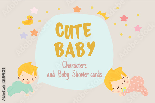 Cute Girl For Baby Shower Invitation Card Design Template Kaufen