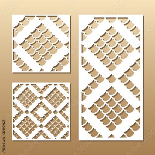 Poster Blanc Laser cut vector panel