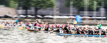 Intentionally Blurred Dynamic Image Of A Dragon Boat Race, Motion Blur