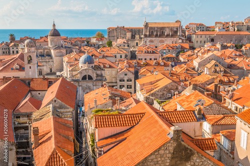 In de dag Centraal Europa Dubrovnik in Croatia