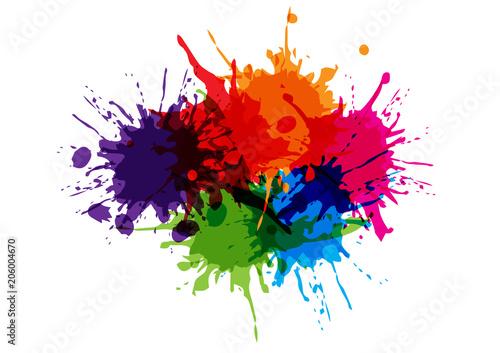 Fotografia  abstract splatter color design background