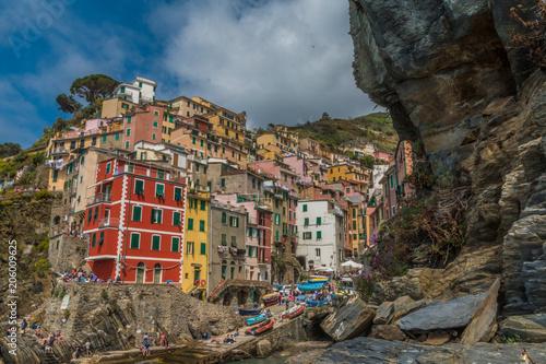 In de dag Liguria Riomagiorre town in Cinque Terre Italy