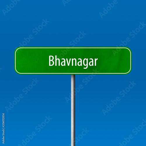 Bhavnagar Town sign - place-name sign Wallpaper Mural