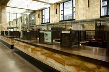 Old Bank Teller Booths