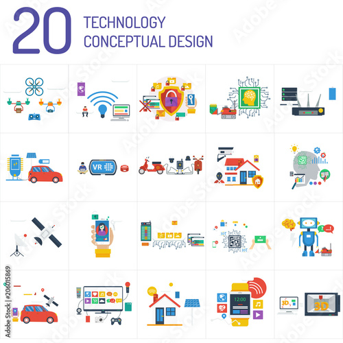 Fototapety, obrazy: Technology Conceptual Design