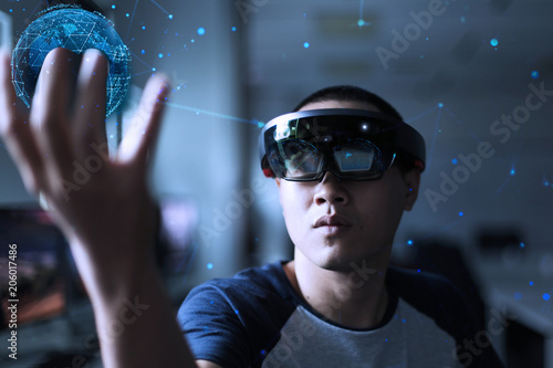Men playing virtual reality with Microsoft hololens | Enter