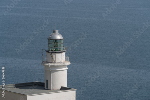 Foto op Canvas Vuurtoren The white lighthouse