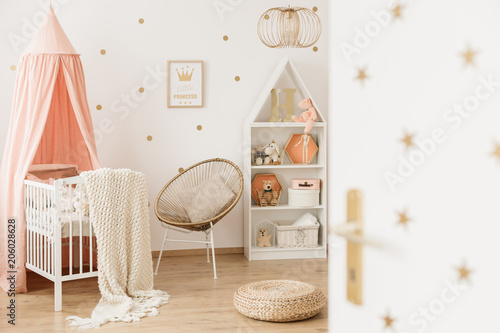 Fotobehang Wintersporten Scandi kid's bedroom interior