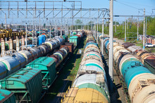 Many Freight Oil Cars At The S...