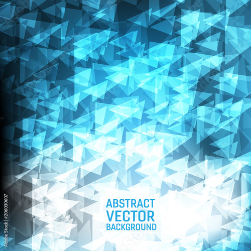 Light Blue Vector Geometric Abstract Background New