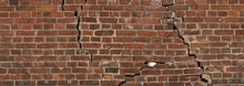 The Cracks In An Old Brick Wall. Texture