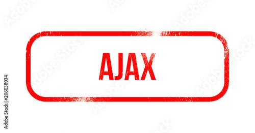 Photo  Ajax red grunge rubber - stamp