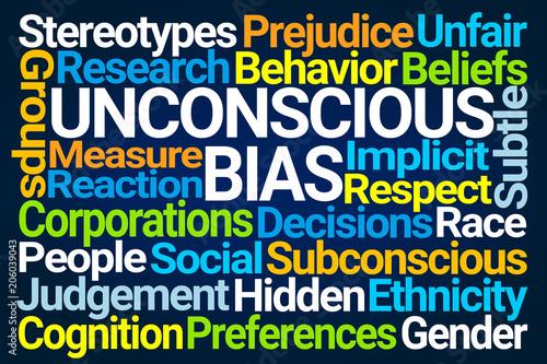 Unconscious Bias Word Cloud Wallpaper Mural