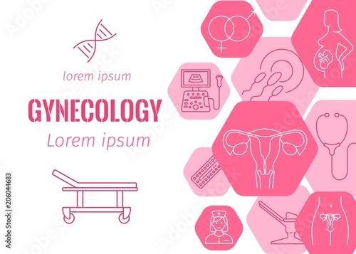 Fotografie, Obraz  Gynecology flat banner