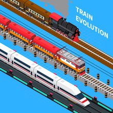 Train Evolution Isometric Comp...