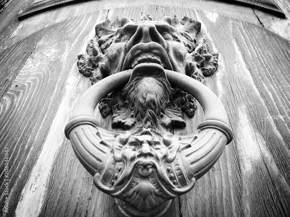 Fototapety, obrazy: Devil head door knocker