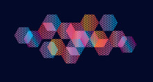Abstract Hexagon Geometric Colorful Element