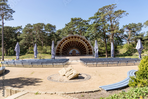 Foto op Aluminium Theater Small concert pavilion on the island of Usedom on the Baltic Sea