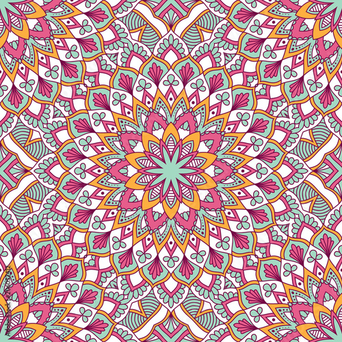 Cotton fabric Hand drawn ornamental seamless pattern. Vector Illustration