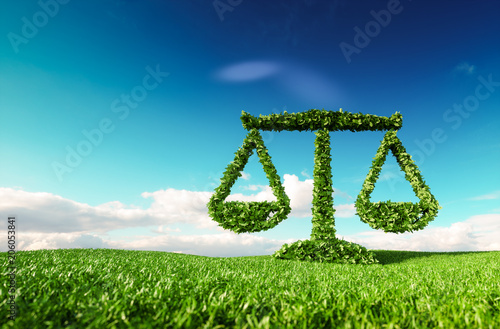 Foto  Eco friendly law, politics and eco balance concept