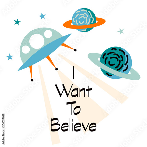 Fotografia i want to believe slogan