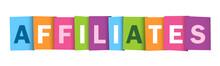AFFILIATES Colourful Letters Icon