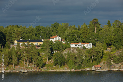 In de dag Noord Europa Bright day in the Stockholm archipelago