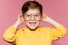 Cute Little Boy In Yellow Jack...