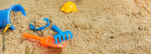 Obraz na plátně child playing in the sandbox