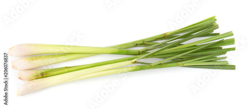 Poster Verse groenten lemon grass isolated on a white background