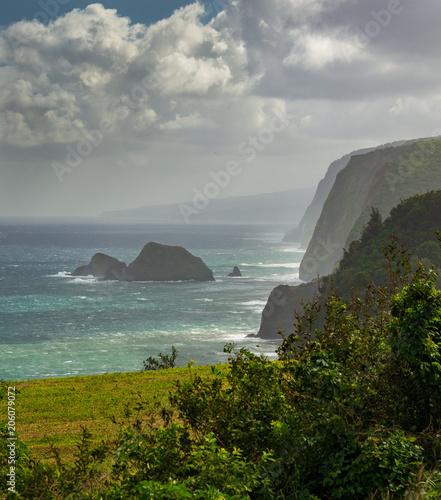 pololu coast hawaii big island - Buy this stock photo and explore
