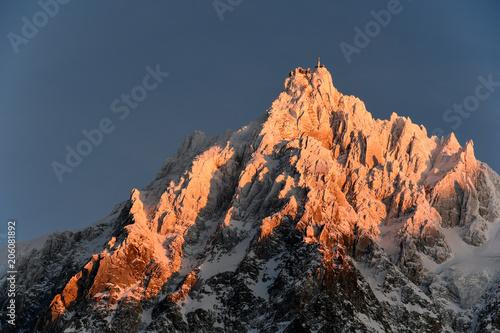 Deurstickers Chocoladebruin Chamonix Mont Blanc